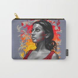 Paola- Red Paint Carry-All Pouch