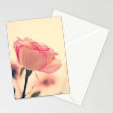 Soft as snow but warm inside (vintage pink roses Stationery Cards