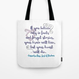 STORIES | CASSANDRA CLARE, LORD OF SHADOWS Tote Bag