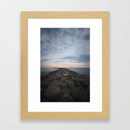 The Jetty at Sunset - Vertical Framed Art Print