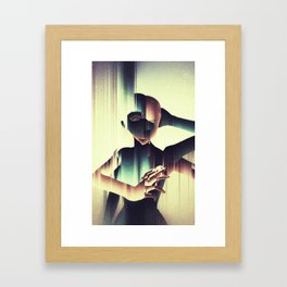 Two Heads: Surreal digital art Framed Art Print