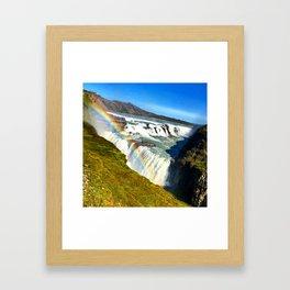 Rainbow - Gullfoss Framed Art Print