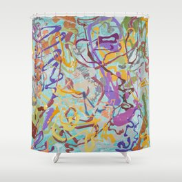 Shamanic Painting 08 Shower Curtain