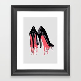 Bloody Shoes Framed Art Print