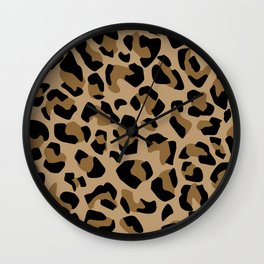 Leopard I Wall Clock