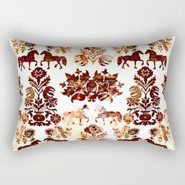 horse damask Rectangular Pillow