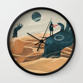 The wanderer and the desert portals Wall Clock