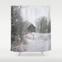 michigan Shower Curtains featuring Michigan by Stephanie Berezecky