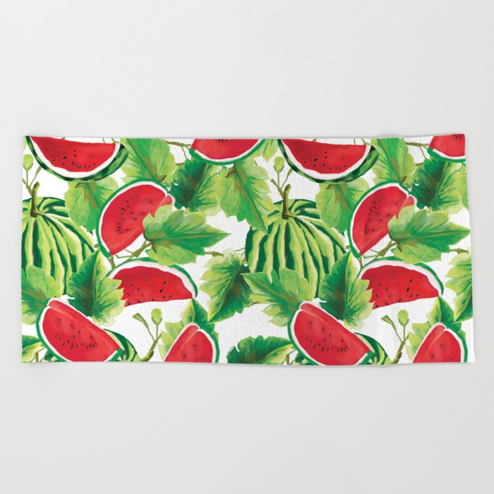 Fresh Watermelon Beach Towel
