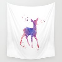 fawn Wall Tapestries featuring Fawn by Carma Zoe