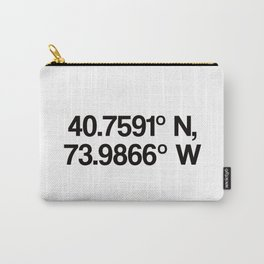 Coordinates of the Richard Rogers Theater - Home of Hamilton: The American Musical Carry-All Pouch