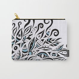 Doodles Black Ink Pattern Bohemian Carry-All Pouch