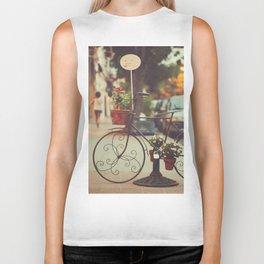 The bike with the flowers Biker Tank