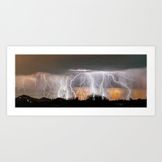 Monsoon Peach Art Print