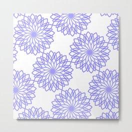 Purple mandalas Metal Print