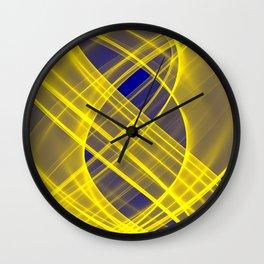 Lightness Entangled (Blue / Yellow) Wall Clock