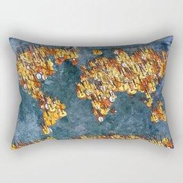 World Music Grunge Rectangular Pillow