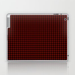 Vintage New England Shaker Small Barn Red Buffalo Check Plaid Laptop & iPad Skin