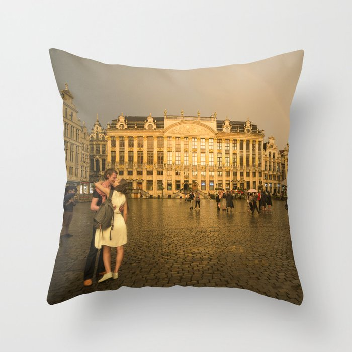 From Brussells with Love Throw Pillow