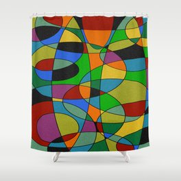 Abstract #94 Shower Curtain