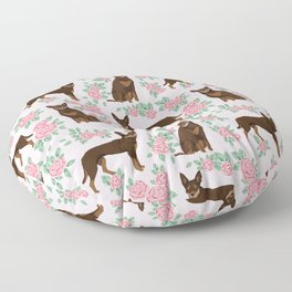 Kelpie florals dog breed cute gifts pattern dog lover pet portraits pet friendly designs Floor Pillow