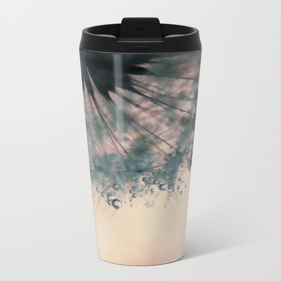 dandelion green III Metal Travel Mug