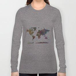 World Map - Watercolor 4 Long Sleeve T-shirt