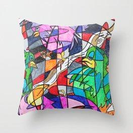 Birdology Throw Pillow