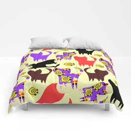 Cats pattern #4W Comforters