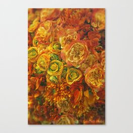 Holiday Flowers Canvas Print