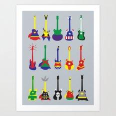 Guitar Heroes  Art Print