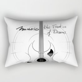 The acoustic guitar - Music, The Frontier of Dreams. Rectangular Pillow
