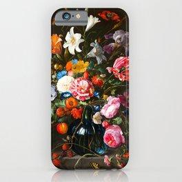 """Jan Davidsz de Heem """"Vase of Flowers"""" iPhone Case"""