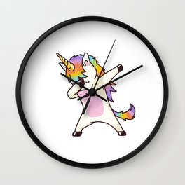 Dabbing Unicorn Wall Clock