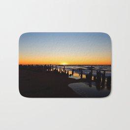 Wharf Beach Sunset Bath Mat