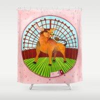 taurus Shower Curtains featuring Taurus by Sandra Nascimento
