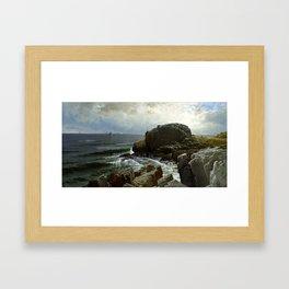 Castle Rock, Marblehead, 1878 by Alfred Thompson Bricher Framed Art Print