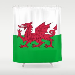 Welsh Flag of Wales Shower Curtain