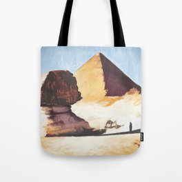 The Great Sphinx And Pyramid Tote Bag