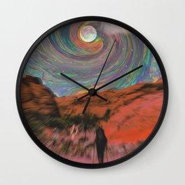 Backpacking Wall Clock