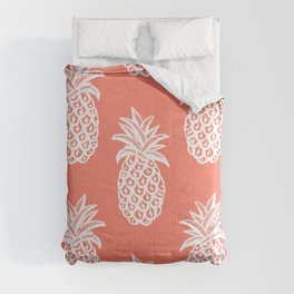 Coral Tropical Pineapple Summer Comforters