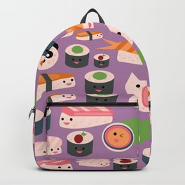 Kawaii sushi purple Backpack