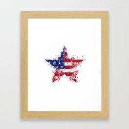 Artistic LXXXIX - Americana Star III Framed Art Print