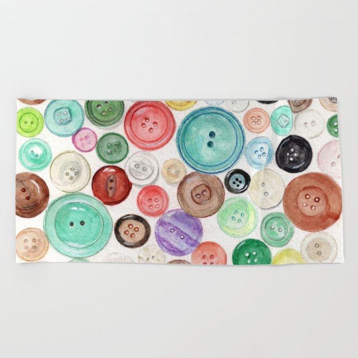 Buttons! Beach Towel