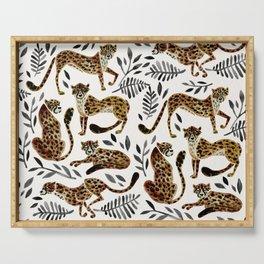 Cheetah Collection – Mocha & Black Palette Serving Tray