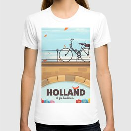 Holland Bicycle travel poster T-shirt