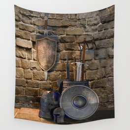 Medieval Weaponry Wall Tapestry