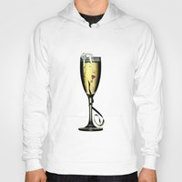 champagne Hoodies featuring Champagne by CokecinL