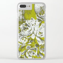 Chartreuse Green Hen and Chicks Clear iPhone Case
