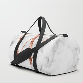 Monogram rose gold marble W Duffle Bag